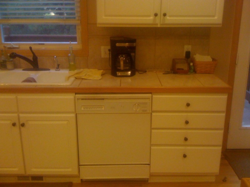 Kitchen Before, Dishwasher