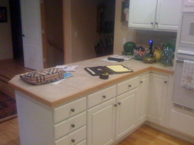 Kitchen Before, Peninsula Front