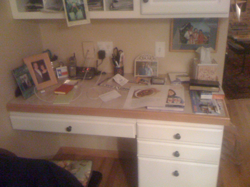 Desk Before
